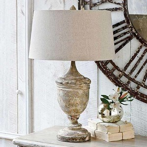 Gesso Wood Vase Lamp