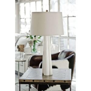 Alabaster Quatrefoil Lamp