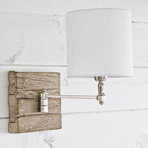 Reclaimed Wood Swing Arm Pinup Sconce | Regina Andrew