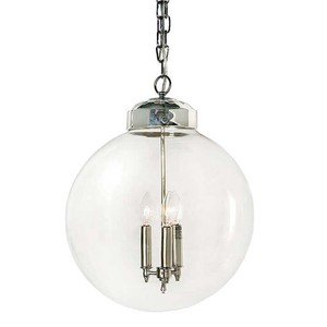 Large Globe Pendent in Nickel Finish