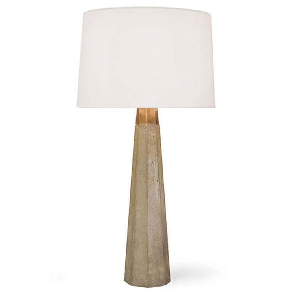Concrete and Brass Table Lamp   Regina Andrew