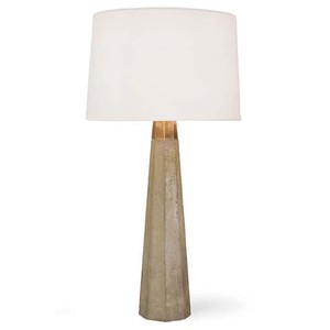 Concrete and Brass Table Lamp | Regina Andrew