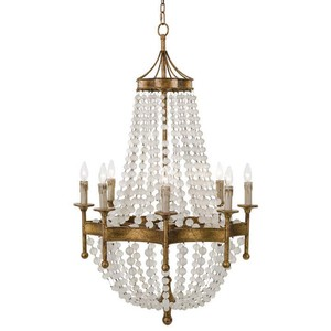 Scalloped Frosted Crystal Bead Chandelier | Regina Andrew