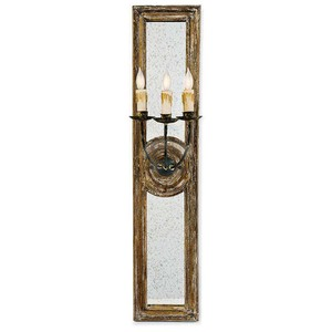 Three Arm Mirrored Sconce