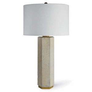 Concrete and Brass Gear Lamp | Regina Andrew