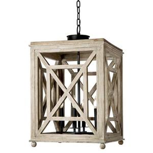 Wood Lattice Lantern Chandelier | Regina Andrew
