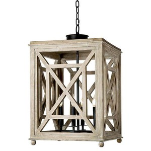 Wood Lattice Lantern Chandelier | Regina Andrew