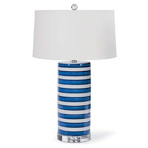 Ceramic Striped Column Lamp