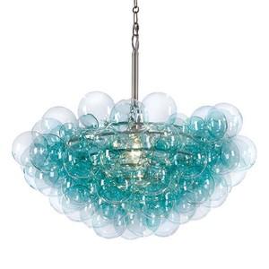 Bubbles Chandelier in Aqua