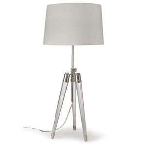 Brigitte Table Lamp in Nickel