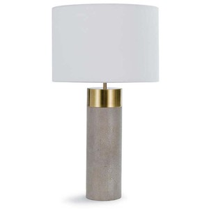 Harlow Shagreen Cylinder Lamp   Regina Andrew