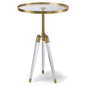 Brigitte Table in Brass | Regina Andrew