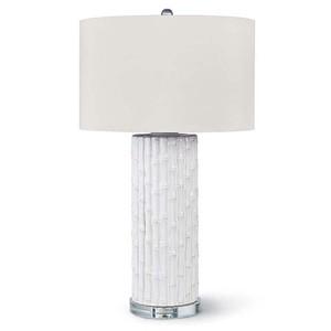 White Ceramic Bamboo Lamp