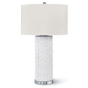 White Ceramic Bamboo Lamp | Regina Andrew
