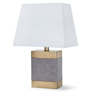 Shagreen Ceramic Rectangular Lamp | Regina Andrew