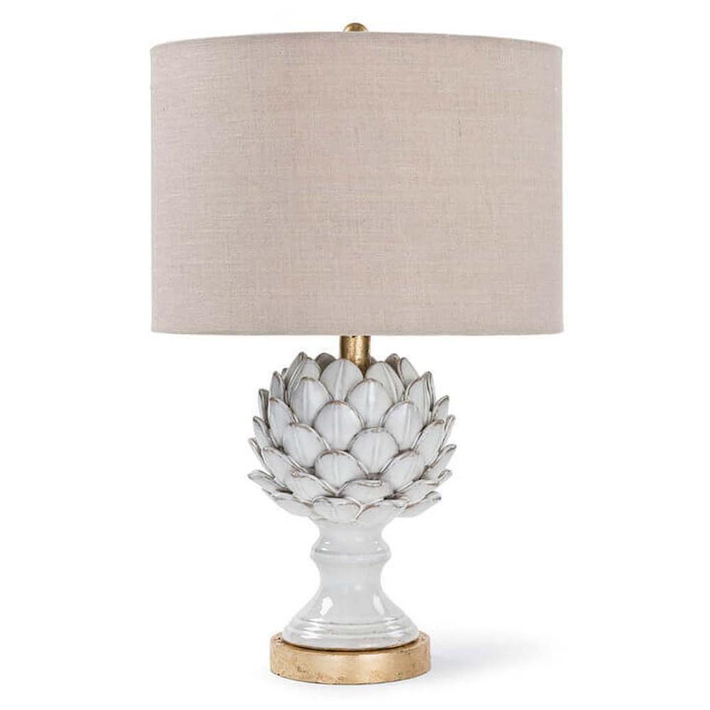 Ceramic Leafy Artichoke Lamp | Regina Andrew