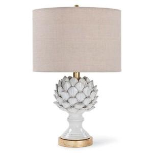 Ceramic Leafy Artichoke Lamp