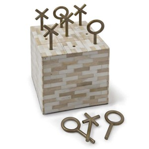 Multi Tone Bone Block Tic Tac Toe