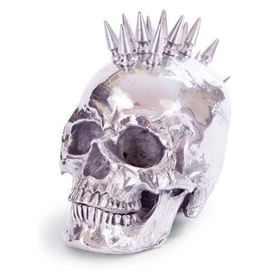 Polished Nickel Spiked Skull