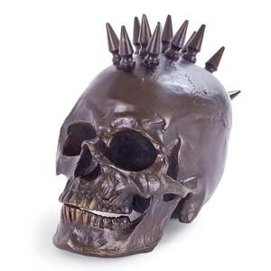 Antique Bronze Spiked Skull