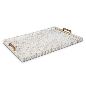 Multi Tone Bone and Brass Tray | Regina Andrew