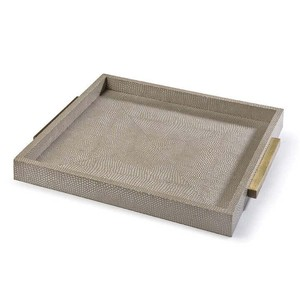Ivory Grey Shagreen Square Boutique Tray | Regina Andrew