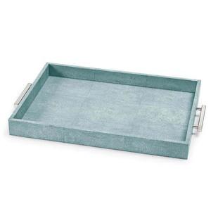 Turquoise Shagreen Rectangular Tray