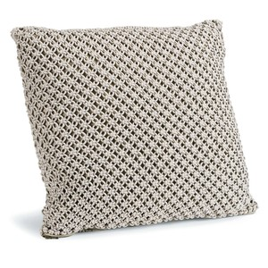 Marcel Gray Macramé Pillow