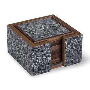 Shagreen Coaster Set