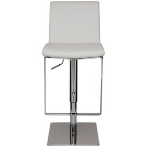 Lewis Polished Adjustable Stool