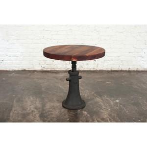 Round Reclaimed Hardwood Side Table | Nuevo