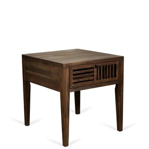 Open Slat Side Table