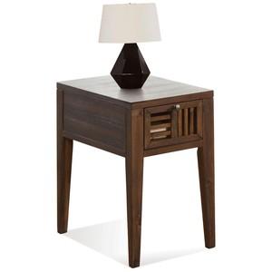 Open Slat Chairside Table