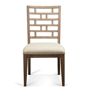 Mirabelle Curved Lattice-Back Upholstered Chair