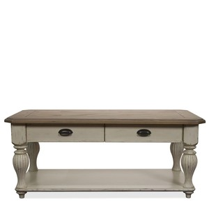 COVENTRY TWO TONE RECTANGULAR COFFEE TABLE | Riverside