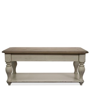 COVENTRY TWO TONE LIFT TOP RECTANGULAR COFFEE TABLE | Riverside