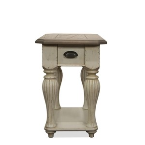 COVENTRY TWO TONE CHAIRSIDE TABLE | Riverside