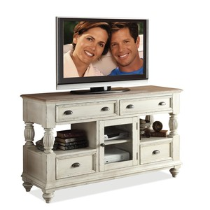 Coventry Two Tone Tall TV Console | Riverside