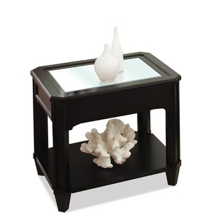 Rectangular Glass Top Side Table | Riverside