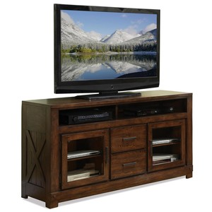 Glass Door TV Console | Riverside