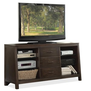 Canted TV Console
