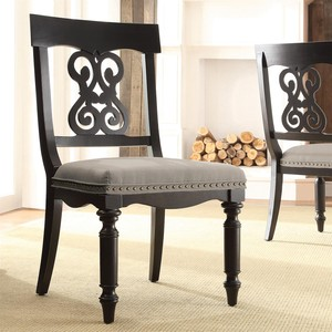Scroll Upholstered Side Chair | Riverside