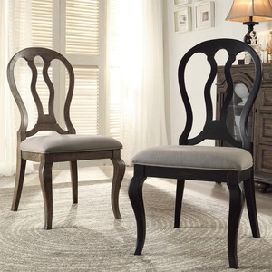 Queen Ann Upholstered Side Chair | Riverside