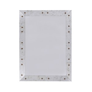 Rectangular Antique Mirror with Bronze Stud Detail | Worlds Away