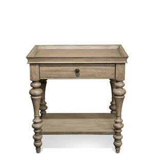 Wood Top Leg Nightstand