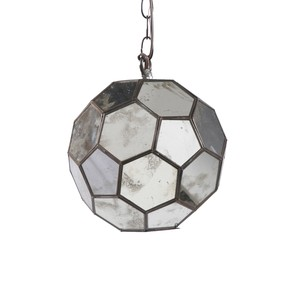 Small Antique Mirror Pendant | Worlds Away