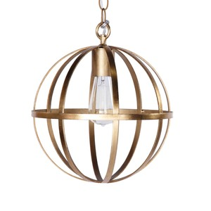 "12"" Iron Sphere Gold Leaf Chandelier 
