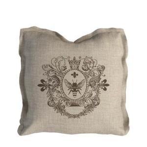Beige Beige Logo Pillow