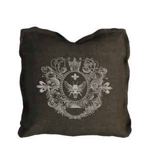 Brown Beige Logo Pillow