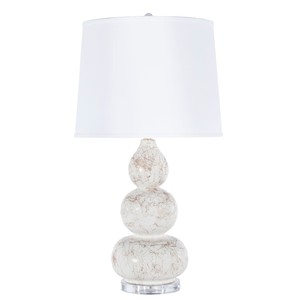Delaney Table Lamp Gold Marbling Linen Shade